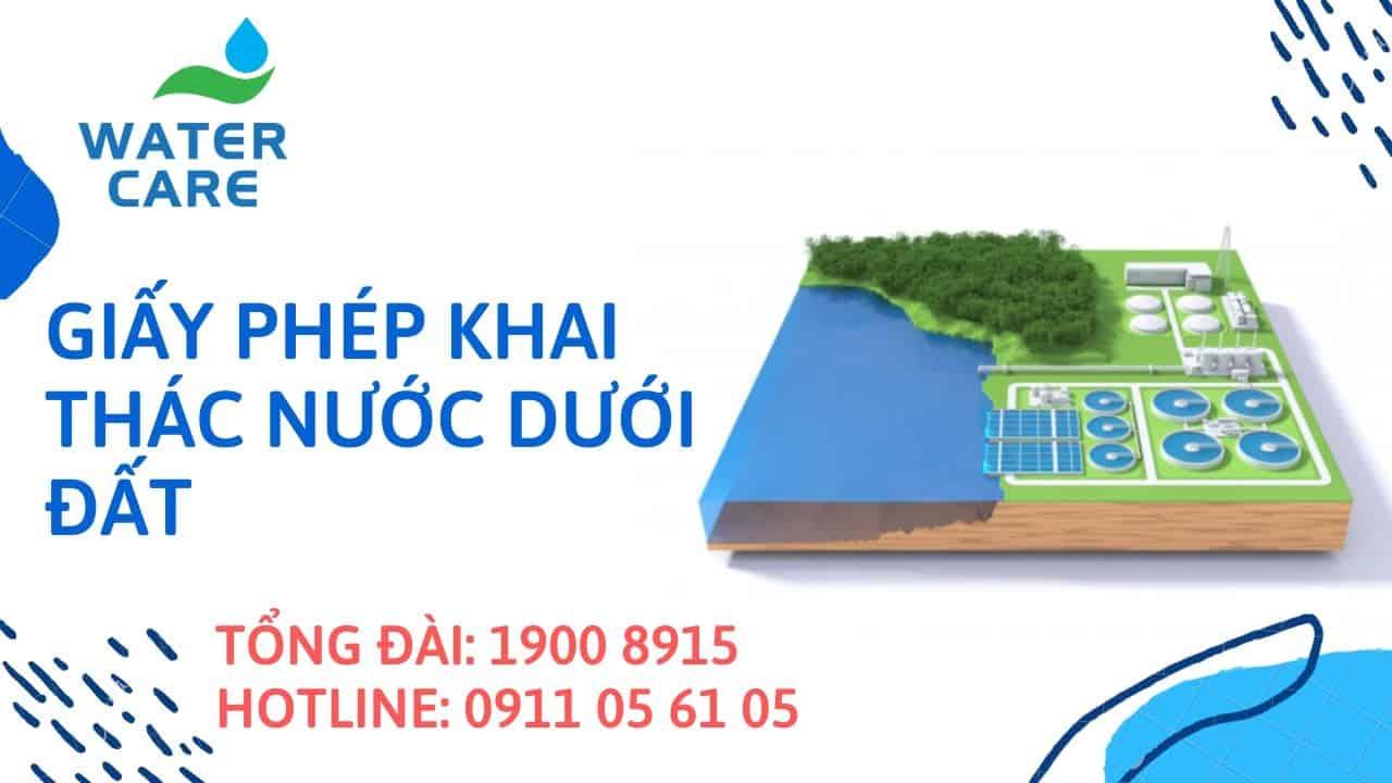 Giấy phép khai thác nước dưới đất (1)