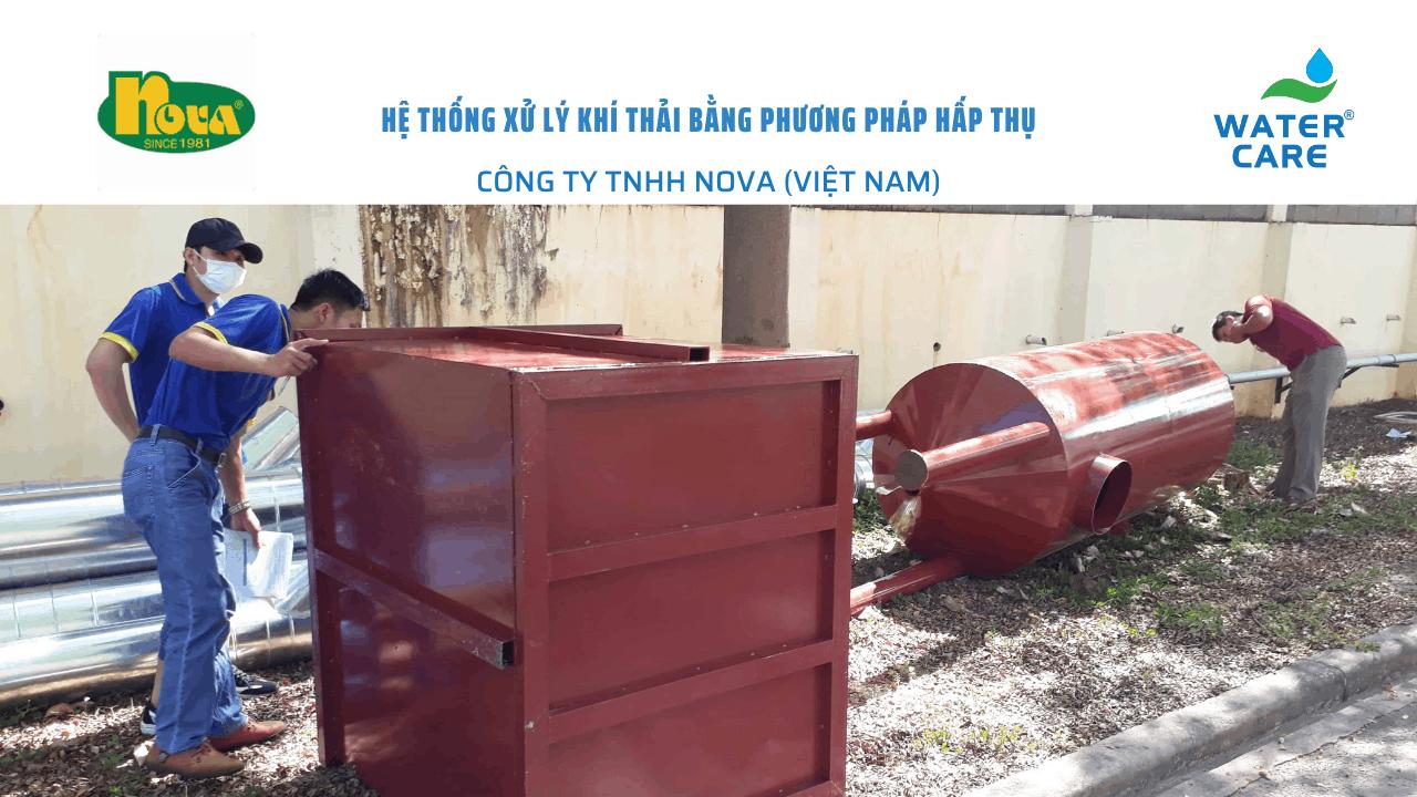 Hệ thống xử lý khí thải bằng phương pháp hấp thụ - Công ty TNHH Nova (Việt Nam)