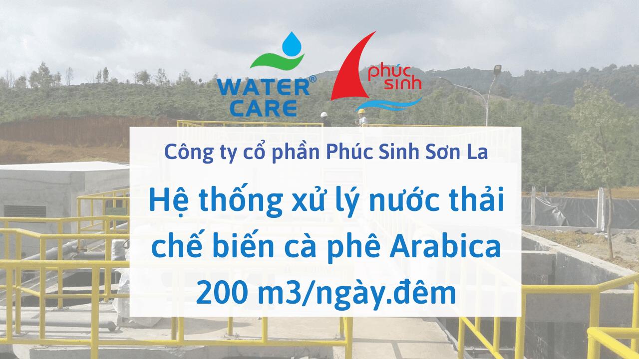 Hệ thống xử lý nước thải chế biến cà phê Arabica 200 m3/ngày.đêm - Công ty cổ phần Phúc Sinh Sơn La