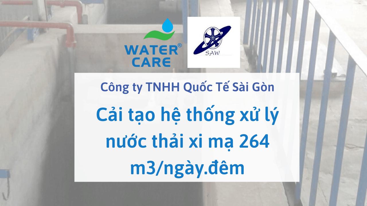 Cải tạo hệ thống xử lý nước thải xi mạ 264 m3/ngày.đêm - Công ty TNHH Quốc Tế Sài Gòn